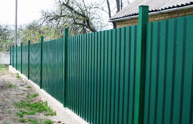 Забор из профнастила недорого